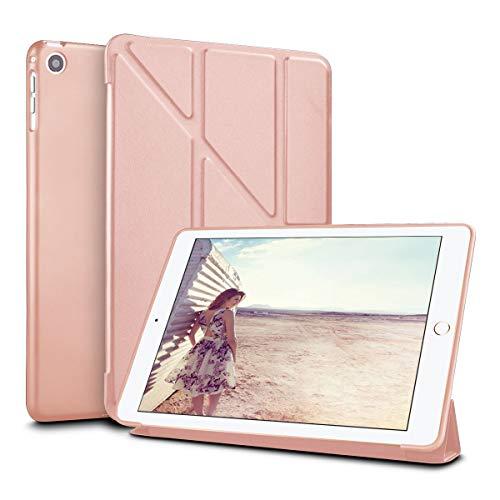 Eutekcoo Schutzhülle für iPad Mini 1 2 3 Origami rosa Rose Gold (Ipad 3 Mini Gold-bildschirm)