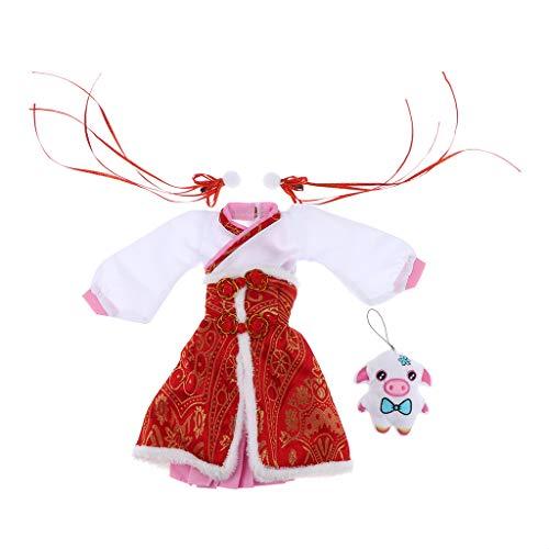 Homyl Puppenkleider Chinesische Puppen Kleidung Puppenbekleidung Set Puppen Party Kleider, Puppen Zubehör, ()