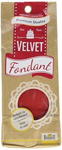 Birkmann 504295 Velvet Rollfondant, 500 g, rot