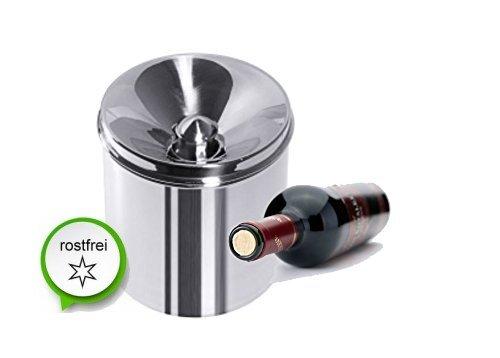 Spucken Kochen (edler Edelstahl Degustationsbehälter Degustation für Weinverkostung Spritzschutz bei Weinmessen)