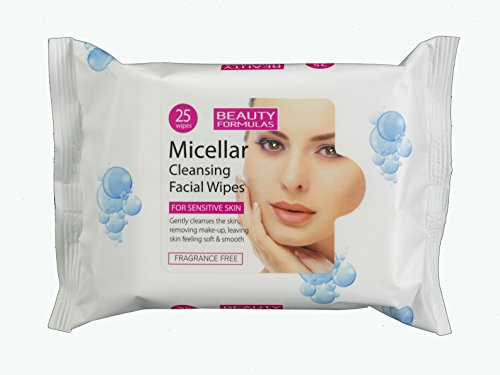 Beauty Formulas Micellar Cleansing Facial Wipes 25 Wipes
