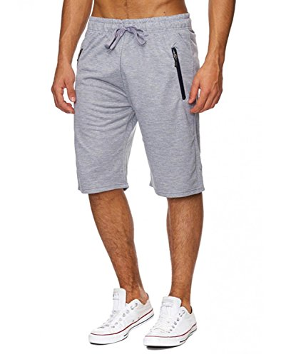 INCERUN Herren Sport Training Sweat Short Fitness Kurze Hose Jogging Shorts Hellgrau L