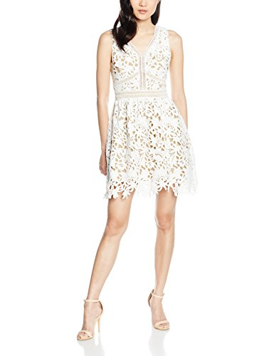 New Look Premium Lace, Robe Femme Blanc (White Patterned)