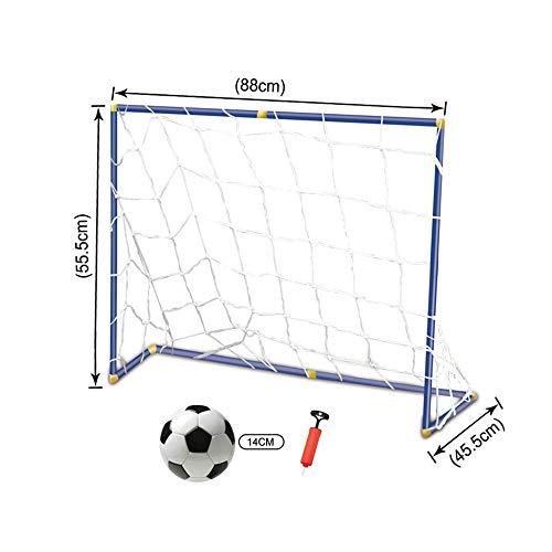 1123/5000 Tragbares Fußballtor Tragbares Versammlungs-Fußball-Ziel scherzt das Hinterhof-Fußball-Netz, das Innenfußball-Ziel faltet Für Kinder geeignet (Farbe : C1, Größe : 89 * 56 * 46CM) -