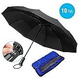 Regenschirm, 10 Ribs Regenschirm Automatik, Beneve Taschenschirm Auf-Zu-Automatik, Sturmfest bis 150 km/h, Leicht/Kompakt/Stabiler, Schirm für Reisen, Ausgestattet Qualität Softcase