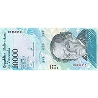 Venezuela Pick-Nr: 98b bankfrisch I 2017 10.000 Bolivares Brillenb/är Banknoten f/ür Sammler