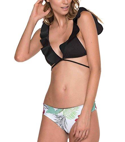 Le World Damen Bikinis Set Badeanzug Rüschen, Zwei Stücke Badeanzüge Push up Kleine Brüste Cup Sexy Bikini Oberteil Rüschen Brust
