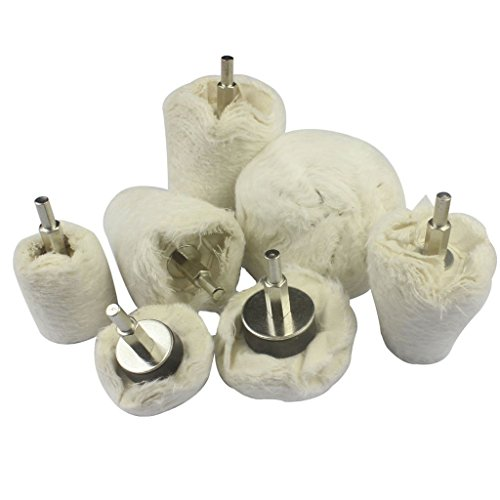 Preisvergleich Produktbild SPTA 7tlg Polieren Rad Polieren Mop Rad Polierscheibe Polier Wheel Polishing Buffing Pad Sets für Rotary Werkzeug Manifold, Aluminium, Edelstahl, Chrom