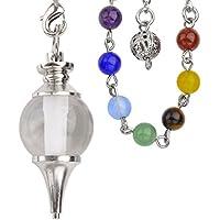 JOVIVI Edelstein Pendel Chakra Kugelpendel Pendulum Anhänger mit Kette 7 Stein Healing Armband preisvergleich bei billige-tabletten.eu