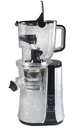 Beper 90.422–Extractor de zumo 47Revoluciones Slow Juicer boca ancha