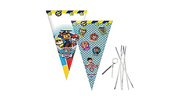 KIDS CONE CELLO PARTY BAGS Birthday Sweet Loot Filler Cellophane Toys Gift