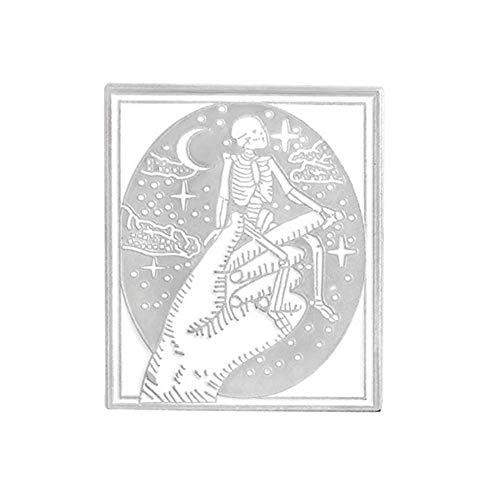 X-Z Der Teufel Pin Teufel Skorpion Skelett Schädel Brustkorb Hände Halloween Pin Skelett Brosche Abzeichen Revers Pin