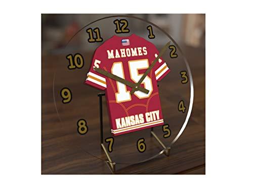 l League Desktop Uhren-AFC West American Football Jersey Uhren-Jeder Name, beliebige, jedes Team KANSAS CITY CHIEFS ()