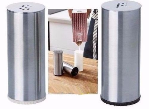 New Ikea Zopf Salz-& Pfefferstreuer Set, 2Stück, Edelstahl, aus der