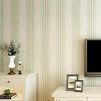 BTJC Strisce verticali moderno e semplice soggiorno TV sfondo muro di camera bambini corridoio camera da letto carta da parati non tessuta Mediterraneo orientale , apple green