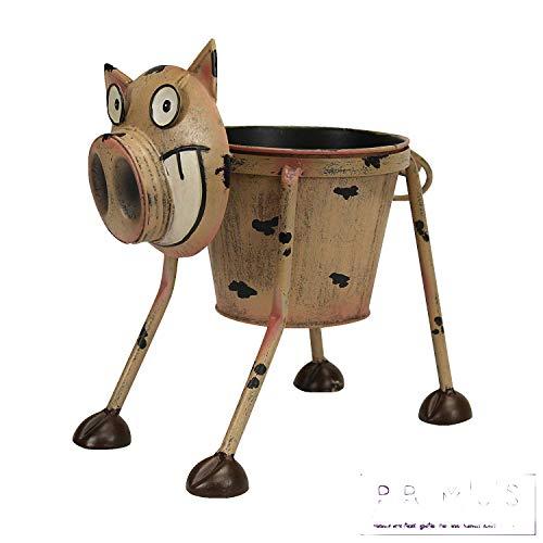 Primus - Pot de fleurs insolite en métal en forme d'animal peint à la main pour l'intérieur ou...