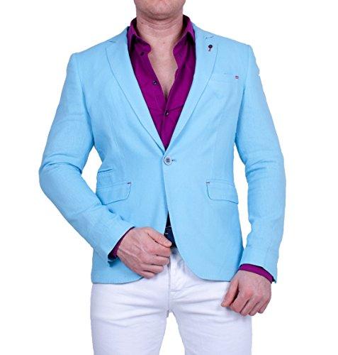 Armina Exclusive -  Blazer  - Camicia - Uomo Turchese