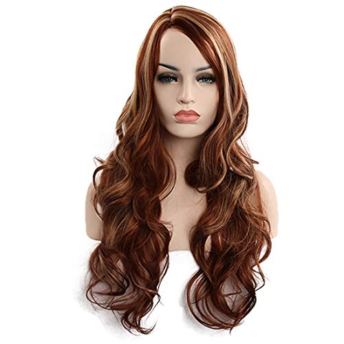 Kostüm Perücke Kämmen Einer - JIAJ Hunde Frauen Perücken Lange Haare Spiral Curly Cosplay Kostüm Perücke for Frauen Mädchen (Farbe : Curls)