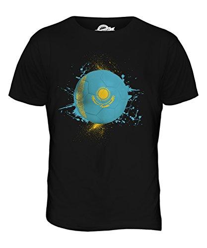 CandyMix Kasachstan Fußball Herren T Shirt Schwarz