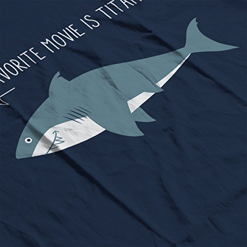 A Sharks Favorite Movie Women's Hooded Sweatshirt Navy blue