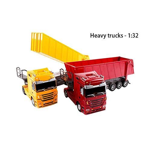 RC Auto kaufen LKW Bild 4: Etanby 1:32 RC Ferngesteuertes Bau LKW Fahrzeug Container Transporter Modell, 2,4 GHz 6-Kanal Ferngesteuertes Baustellenfahrzeug, Baustellenfahrzeug Mit Fernbedienung,Geeignet für Kinder über 6 Jahre*
