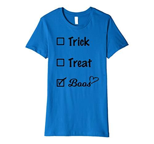 Damen Funny Drinking Halloween Pun Trick Or Treat Or Boos T-Shirt