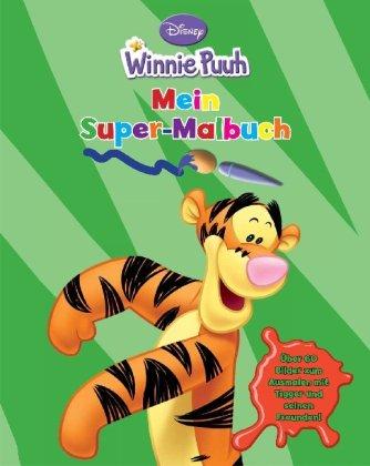 Disney Winnie Puuh: Mein Super-Malbuch, über 60 Bilder zum ausmalen mit Tigger und seinen Freunden!