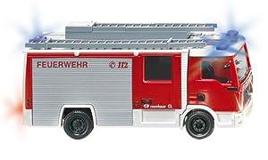 Siku 7424 - Camión de bomberos por control remoto LF10 / 6 CL (MAN TGL, con cargador, escala 1:87), varios colores importado de Alemania