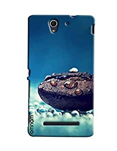 Omnam Stone With Water Effect Printed Designer Back Cover Case For Sony Xperia C3