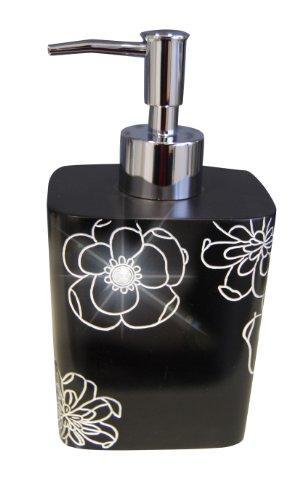 Ridder 22160510 Diamond - Dispensador de jabón líquido, color negro
