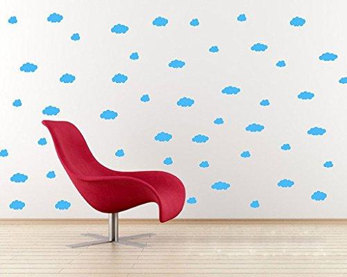 Aoligei Wolkenwolken Wohnzimmer Schlafzimmer Dekoration Wandaufkleber 30 * 15cm