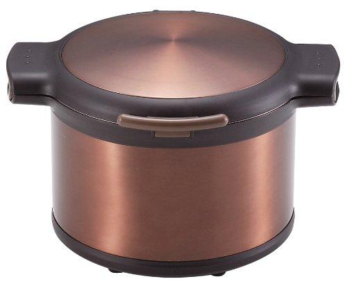 Pearl Ekokku Vacuum Isolation Thermique Faitout 3.2L Marron H-8100 (Japon Import/Le Paquet et Le Manuel sont Écrites en Japonais)
