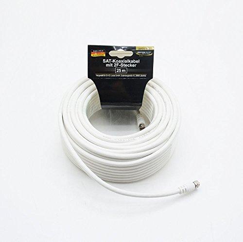 Preisvergleich Produktbild SAT Koaxialkabel mit 2F-Stecker Antennenkabel Kabel 25m
