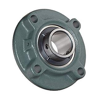 DOJA Industrial | Kugellager mit Halterung UCFC 206 Kugellager mit Halterung für Achse (30 mm) Kugellager mit Halterungen für: Fräser, 3D-Drucker, Torno, Basteln