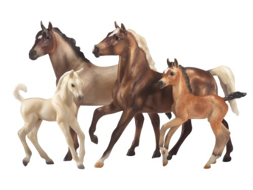 breyer-1391-figurine-animal-coffret-2-chevaux-et-2-poulains-mustang-galion