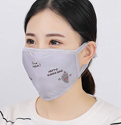 LIUQIAN Winter Damen englische Druck Baumwolle warme Masken Baumwollmaske