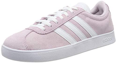 adidas Damen VL Court 2.0 Sneaker, Aero Pink/Footwear White/Light Granite 0, 37 1/3 EU