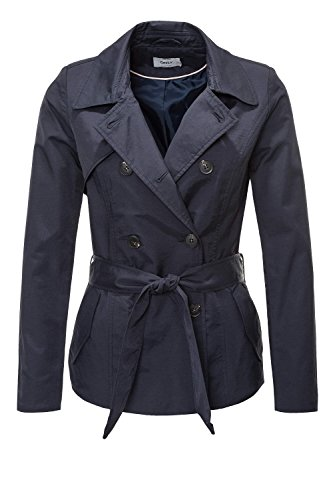 ONLY Damen Mantel Onllucy Short Trenchcoat CC Otw, Blau (Night Sky Night Sky), 36 (Herstellergröße: S) (Kurze Mäntel Blaue)