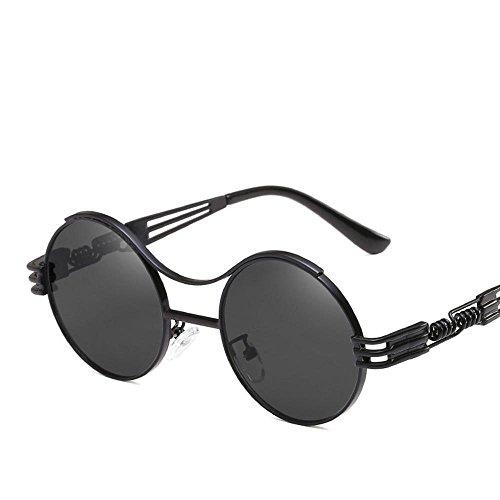 Aoligei Serie europea tendencia gafas de sol moda Punk redondas gafas de personalidad marco gafas de sol de primavera espejo pata
