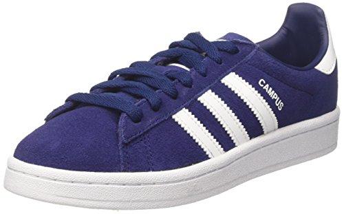 Adidas Campus J, Scarpe da Ginnastica Basse Unisex-Bambini, Blu (Dark Blue Footwear White), 38 2/3 EU
