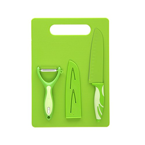 Tagliere con coltello e pelaverdure