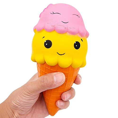 Lento levantamiento Squishies Toys, MMTX Super Soft Cut Squeeze Toys Kawaii Cake Helado perfumado Squishy Jumbo Stress Relief Descompresión de regalo para niñas Niños (Helado)tress Relief Descompresión de regalo para niñas Niños (Helado)