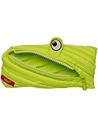 Zipit Monster - Estuche con 3 anillas, color verde lima