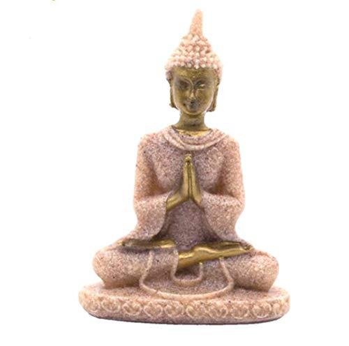 Thailand Buddha-statue (shunlidas Schmuck Skulptur Desktop Blume Pflanze 8 cm (3,1