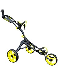 iCart One Compact 3-Wheel Push Trolley Grey/Yellow Grey/Yellow