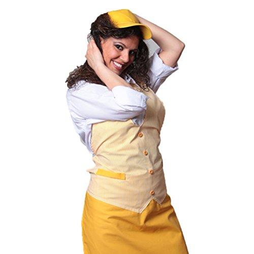 Schürze paravanti Weste Salumiere Fleischer Lebensmittel Arbeit Supermarkt Bar, gelb