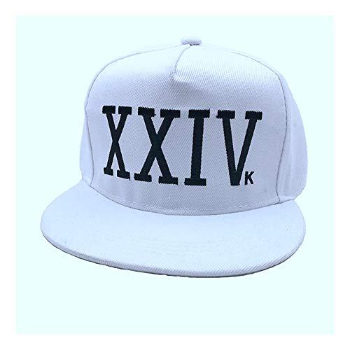 DAMENGXIANG Unisex Bruno Mars Baseball Cap Baumwolle Knochen Rapper Papa Hut Hip Hop Snapback Sun Caps Casquette Caps Weiß