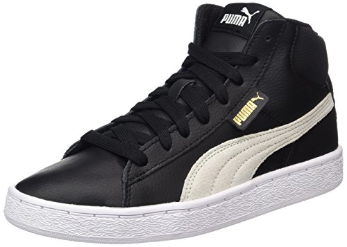 Puma Unisex-Erwachsene 1948 Mid L Hohe Sneaker, Schwarz (Black-White), 44.5 EU (Leder-high-top Schwarze Neue)