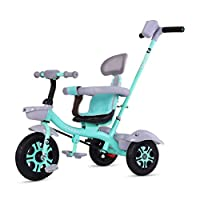 WLD Training Bike Frame Stroller Baby Carriage Children Bicycle Kids Tricycle Multifunction with Backrest Security Fence Boy and Girl Birthday Gift Toy Car