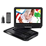 Excelvan Portable DVD Player 9.0' with 270° Swivel Screen Built-in Rechargeable Battery Support USB SD card TV CD Speaker Portatil DVD Player for Kids & Cars